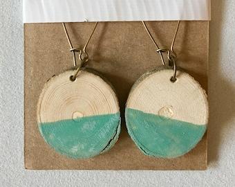 Wooden Round Earrings