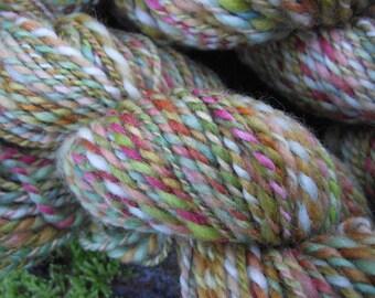 Handspun yarn,  handpainted yarn,  wool, worsted  yarn multiple skeins available-ZEPHYR