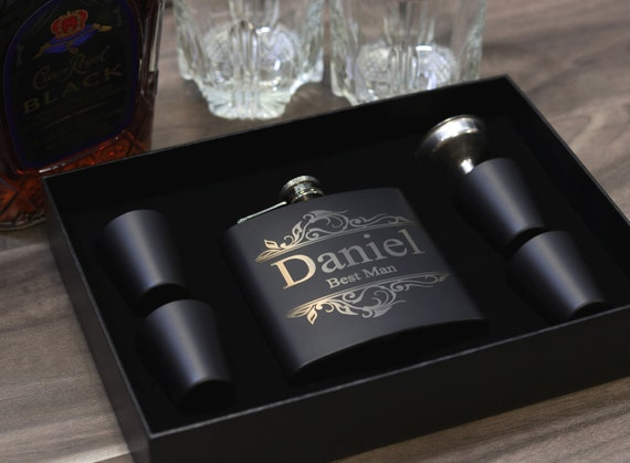 Groomsmen Gift Flask Set Personalized