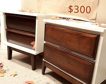 SOLD*** Restyled Mid Century Nightstands -SAMPLE