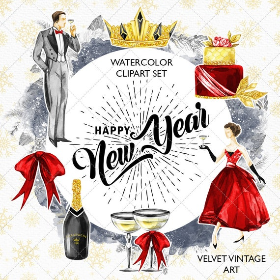New Year Clipart New Year's Eve Clip Art Party Clipart