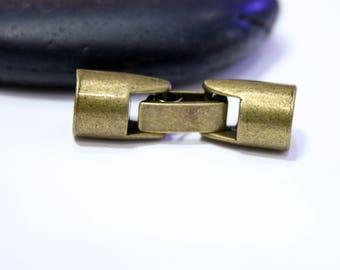 7.5 mm - set of 3 clasps BRONZE