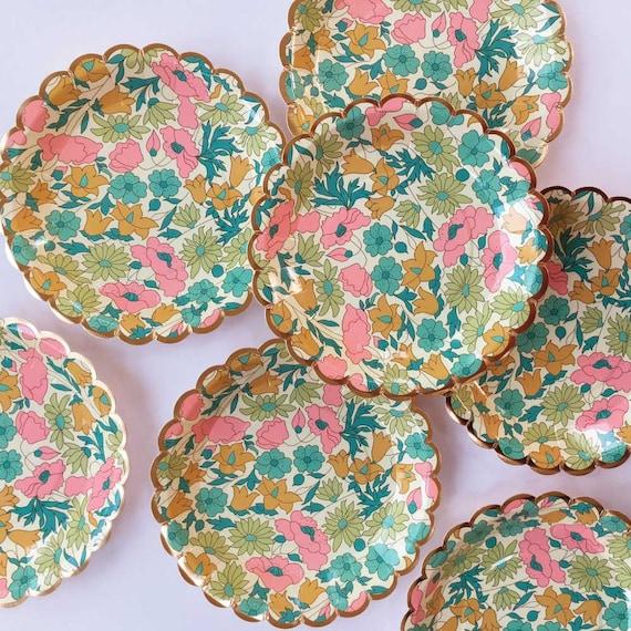 Liberty Poppy u0026 Daisy Small Plates Floral Paper Plates Meri Meri Liberty of London Plates Wedding Plates Party Plates Floral Party Decor from ...  sc 1 st  Etsy Studio & Liberty Poppy u0026 Daisy Small Plates Floral Paper Plates Meri Meri ...