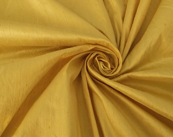 "Champagne Gold 100% dupioni silk fabric yardage By the yard 45"" wide"