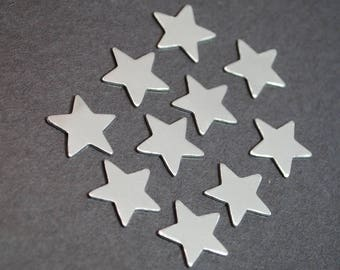 "Ten 1/2"" Small Aluminum Star Blanks - 20g 1100 Finished Aluminum Star Blanks"