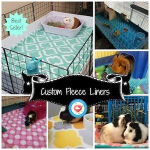 Custom Fleece Liners, Absorbent Cage Liners, Guinea Pig Fleece, Small Pet Bedding for Rabbits, Hedgehogs, Ferrets | C&C #LivingTheLife