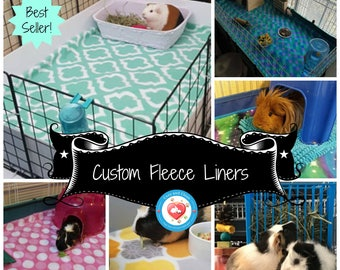 Custom Fleece Liners, Absorbent Cage Liners, Guinea Pig Fleece, Small Pet Bedding for Rabbits, Hedgehogs, Ferrets | C&C #LivingTheLife