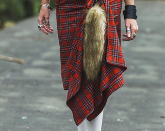 Women wool scotish kilt
