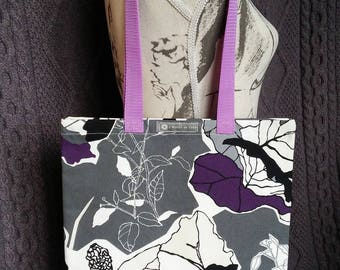 """Tote bag or Tote pattern """"graphic flowers"""""""
