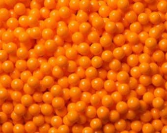 "Orange Sugar Pearls  ""Cake/Cupcake/Cookie Decorations"""
