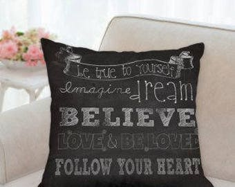 Believe Designer Pillow