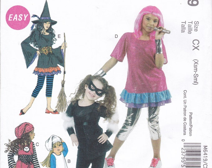 FREE US SHIP Sewing Pattern McCall's 6419 Halloween Costume 80s Rocket Pirate Cat eyes Mask Witch Leggings Size 3 4 5 6 7 8 10 12 14 16 new