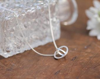 Petite Silver Sphere Necklace