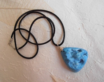 FINAL SALE ~ Blue Druzy Pendant Necklace