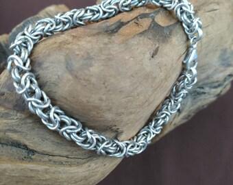 Sterling silver Byzantine chain mail bracelet