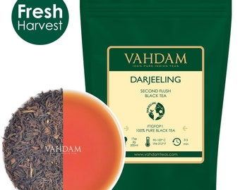 Organic Darjeeling Tea Leaves from the Himalayas (150+ Cups) 2017 Prime Second Flush Black Tea Direct from India, 9oz