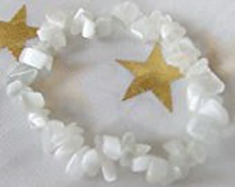 CaT's EyE~Determination, Willpower & Tenacity~BrAcElEt~WHITE~S-T-R-E-T-C-H Bracelet