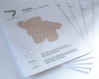 Five Booklets Papercraft Set  - DIY Templates