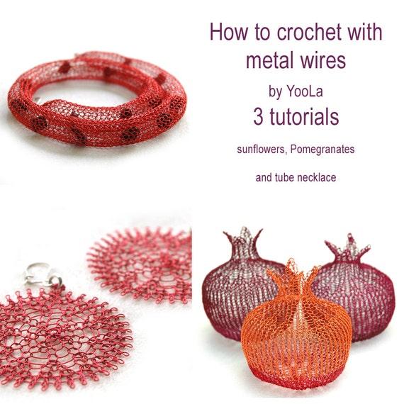 PDF Crochet tutorials flower pattern wire pomegranate tube
