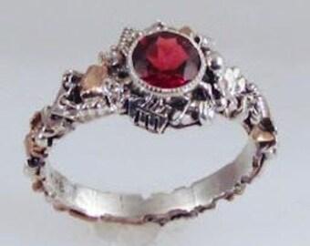 Garnet Industry Ring