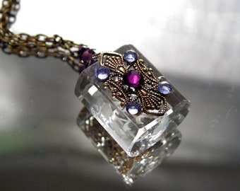 Crystal Essential Oil / Perfume Bottle Necklace