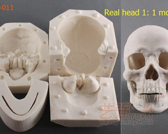 Halloween Skull shape clay mold Fondant cake mold silicone sugar craft mould chocolate mold decoration for cake  kitchen tools