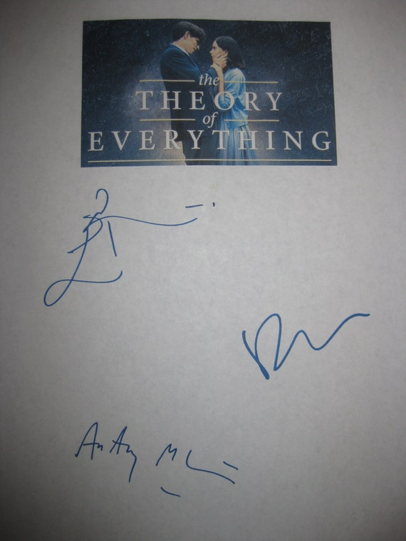 the theory of everything signed film movie script screenplay