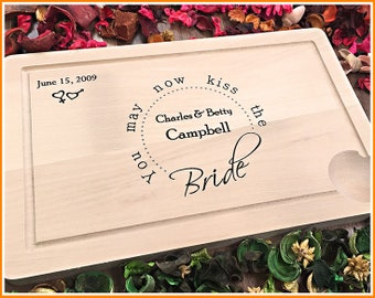 Personalized Cutting Board, Engraved Cutting Board, Custom Wedding Gift, Anniversary, Engagement Gift, For Couple, Newlyweds, Kitchen Gift