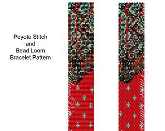 PP302 Bracelet Patern - Delica Bracelet Bead Loom Weaving or Peyote Stitch Bracelet Pattern