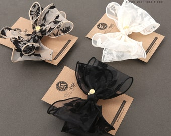 Gorgeous Patterned Chiffon Hair-pin/Hairtie/Barrettes.