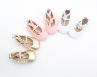 Baby ballet flats /soft soled leather shoes / baby shoes