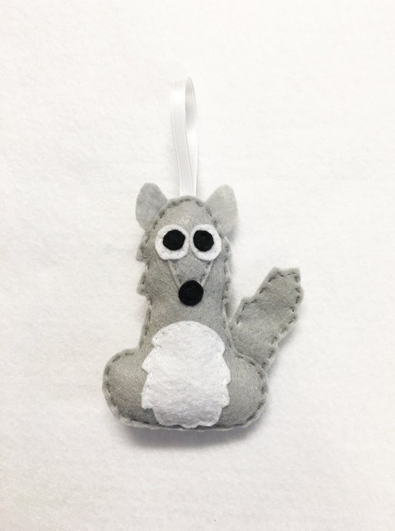 Coyote Ornament, Christmas Ornament, Felt Animal Ornament, Carl the Coyote, Christmas Decoration, Gift Toppers
