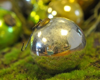 Kugel ornament, Vintage Christmas decoration, silver ornament, We have  more in our shop, please look, #25k