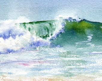 New Wave Seascape with breaking wave giclee