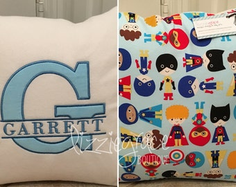 Custom Nursery Pillow, Personalized Pillow, Custom Pillow, Pillow Cover, Choose your own fabric