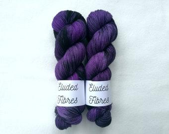 merino wool nylon hand dyed sock yarn 100g / 425m / Eluded Fibres / TUMBLE