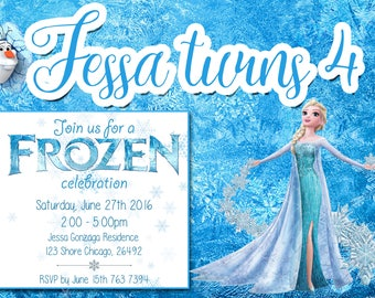 Elsa Invitation, Elsa Birthday, Elsa Party, Elsa Birthday Invitation, Princess Invitation, Princess Birthday, Frozen Birthday Invite
