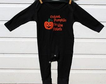 Halloween Pumpkin Babygrow