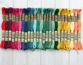 DMC Floss, Color Range 3801-3825, 6-Strand Cotton Thread for Embroidery, Cross Stitch and Needle Arts, sold individually