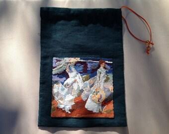 Pouch, lingerie bag: walk on the beach