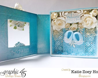 CLEARANCE; Welcome the Little One Patina Mixed Media Box