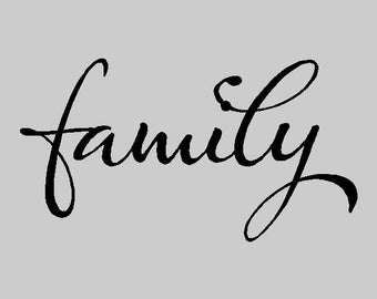 Family Wall Decal Words Sayings Removable Family Wall Sticker Lettering Quotes FA013