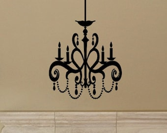 Chandelier Wall Sticker Decal style 1 Living Room Wall Decor