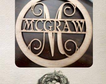 split monogram/ custom cutout/ LARGE