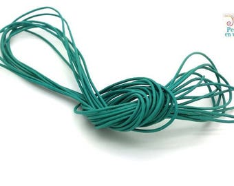 TURQUOISE Blue: 2 meters leather cord 1 mm (cui147)