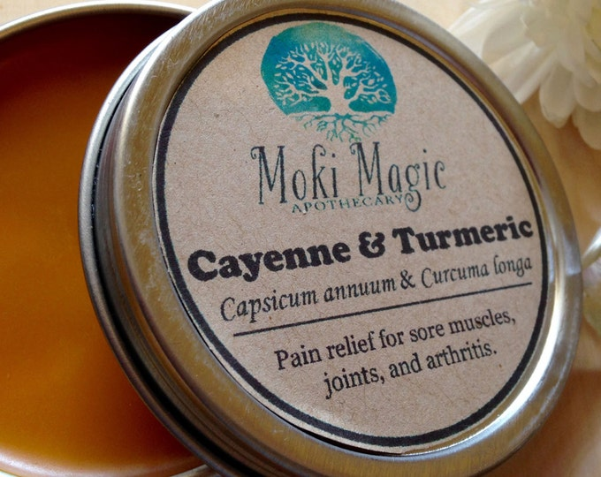 Cayenne & Turmeric Olive Oil Healing Salve. Relieves Pain. Organic Spice Healing Remedy. Capsaicin anti-inflammatory cream lotion rub