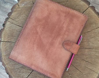 Leather cover for personal desk register, Leather Notepad Cover, Leather Notebook Cover, Leather Journal Cover, Leather Cover A5 big