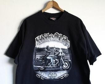 XLARGE Vintage 1991 Nobody's Ol' Lady Harley-Davidson Graphic T-Shirt