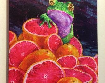 Grapefruit & Gorgonzola - Giclee canvas reproduction