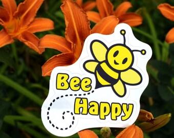 Vinyl Sticker - Bee Happy